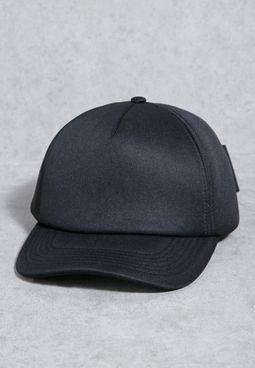 Ribbon Eyelet Bow Cap