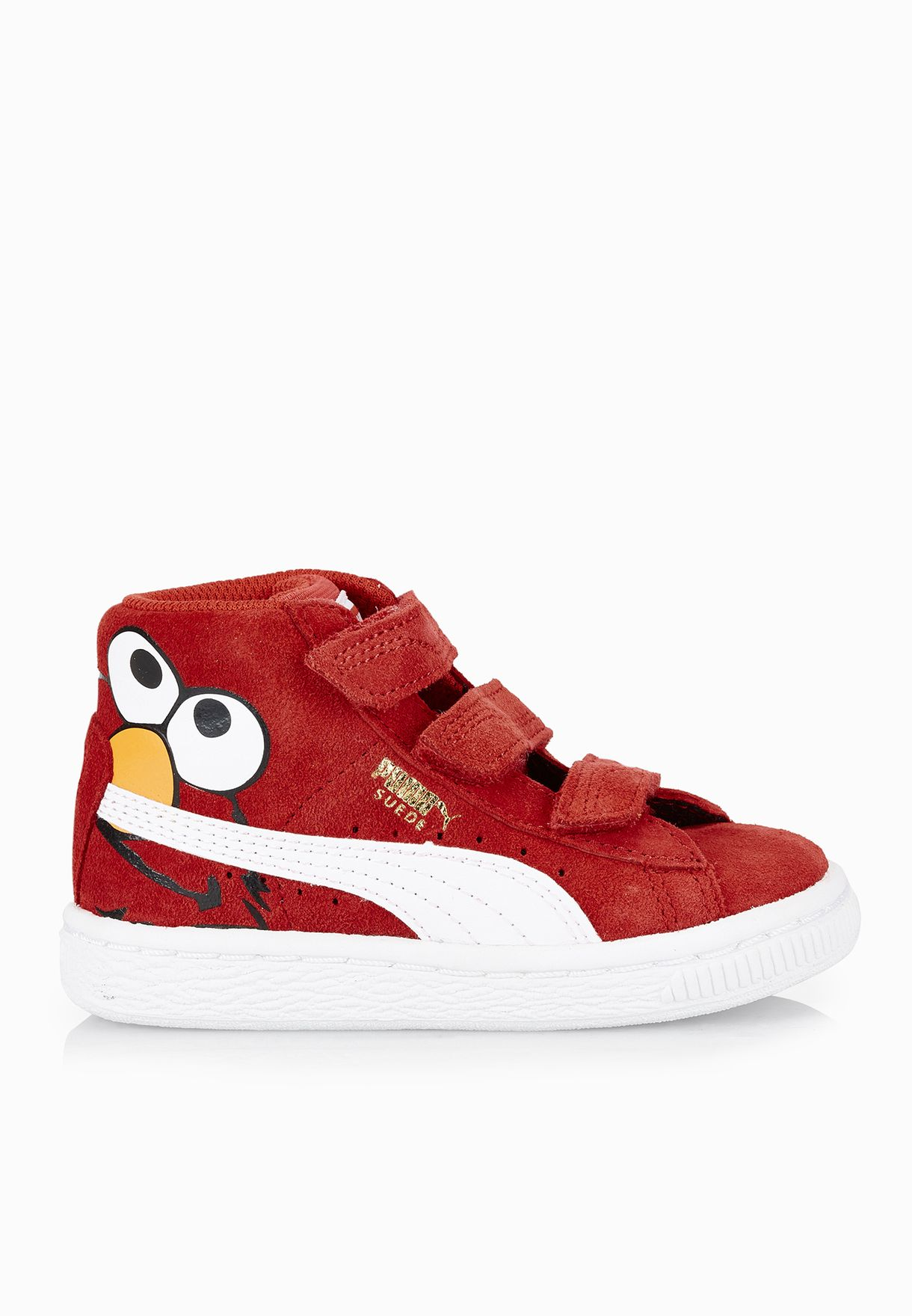 b263bfd43c0d Shop PUMA red Suede Sesame Elmo V Infant 36126601 for Kids in Qatar -  PU020SH79ZZK