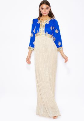 Threadz Embellished Shimmer Maxi Dress