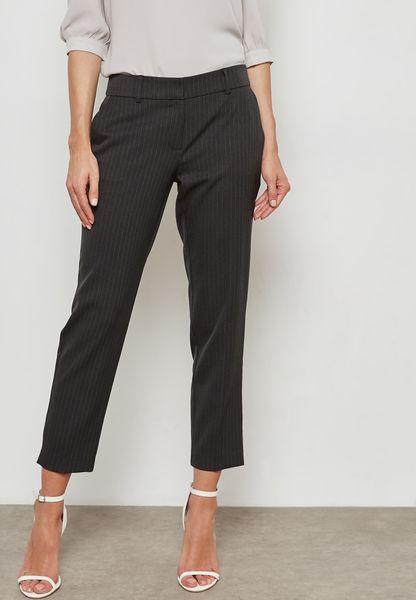 Pinstripe Ankle Grazer Pants