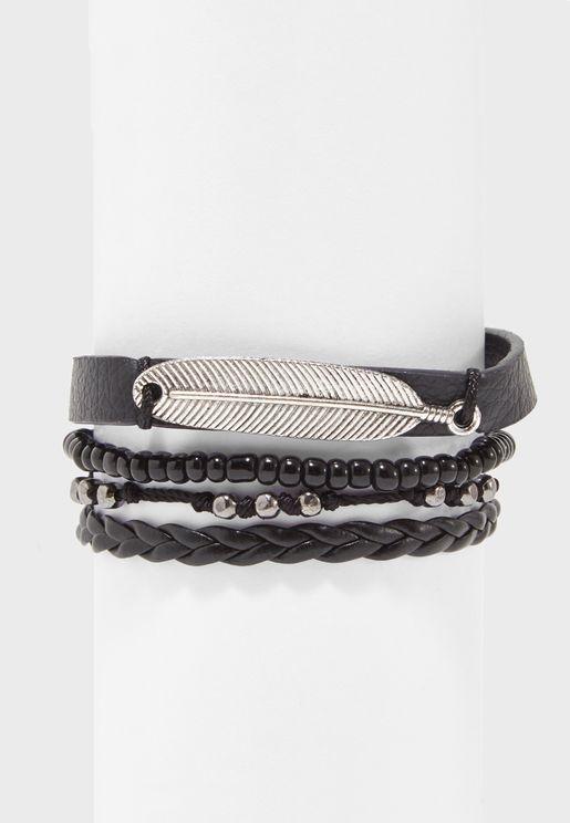Multipack Metal and Beaded Bracelets