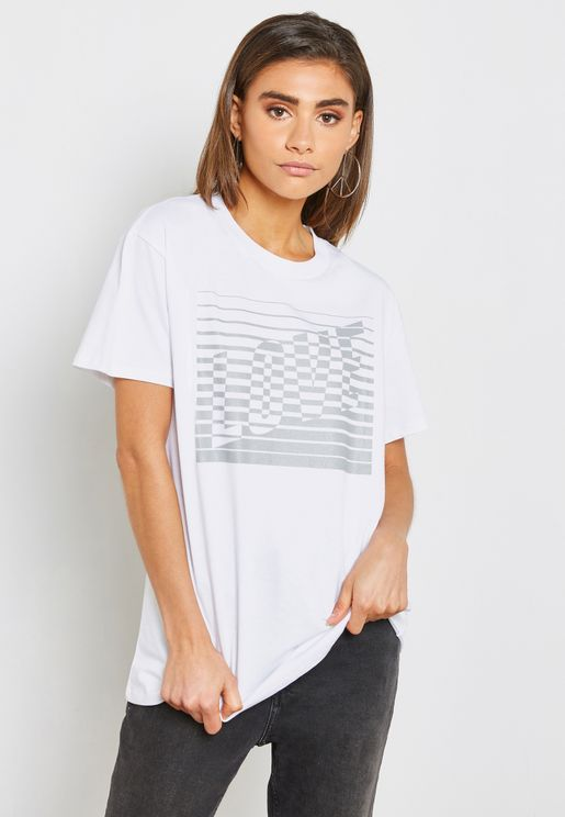 Slogan Reflective  T-Shirt