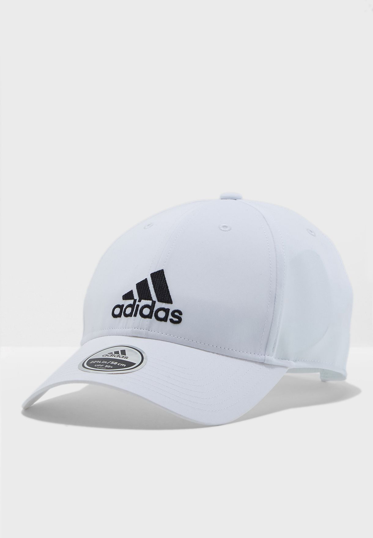 4e665541 Shop adidas white 6 Panel Embroidered Cap BK0794 for Men in UAE ...