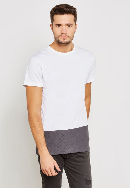 Quilted Cut And Sew T-Shirt