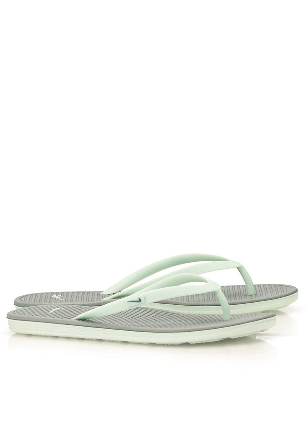 8f8ae8fbcbc1 Shop Nike grey Solarsoft Thong II Flip Flops 488161-303 for Women in ...