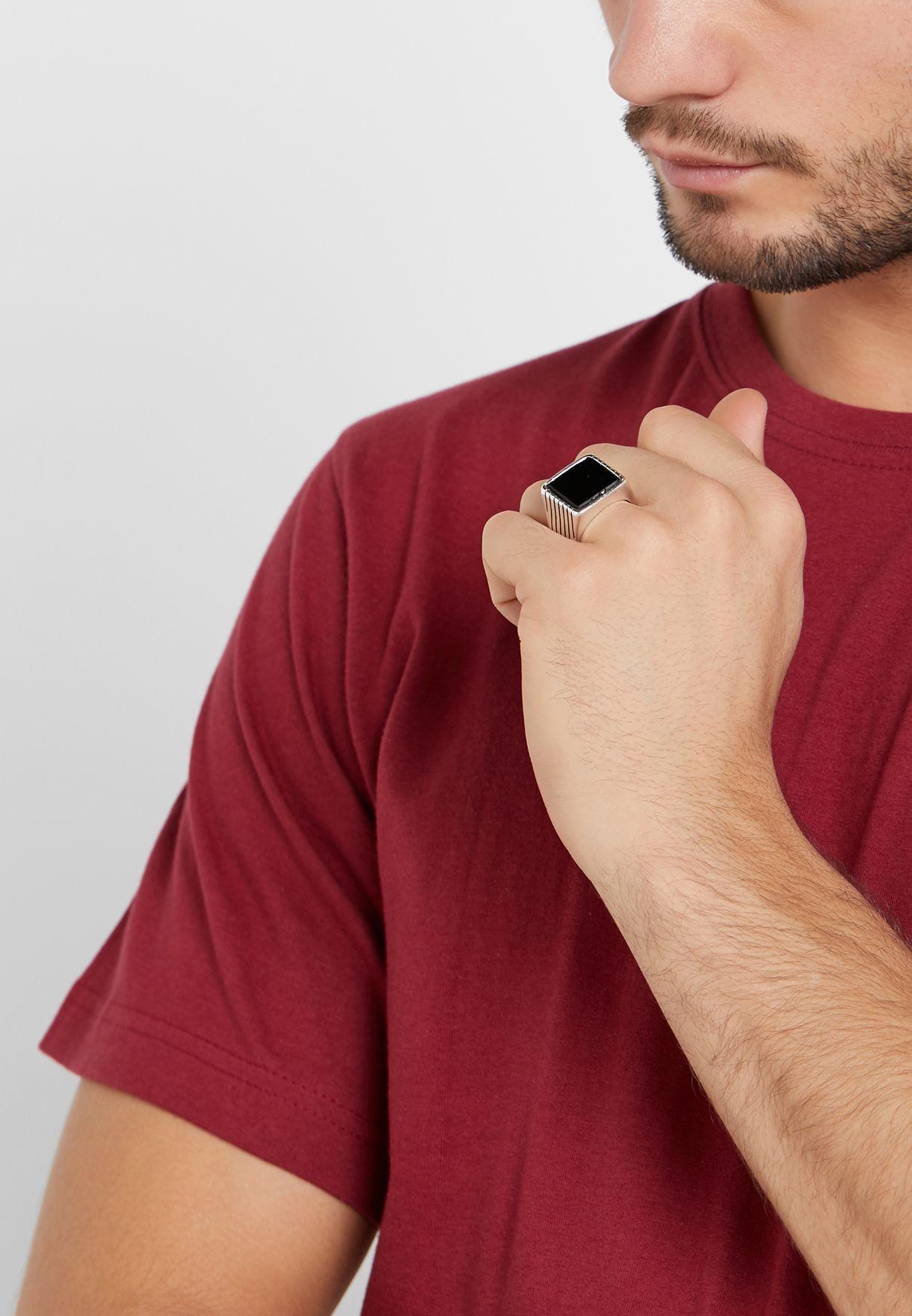 خاتم كاجوال عريض
