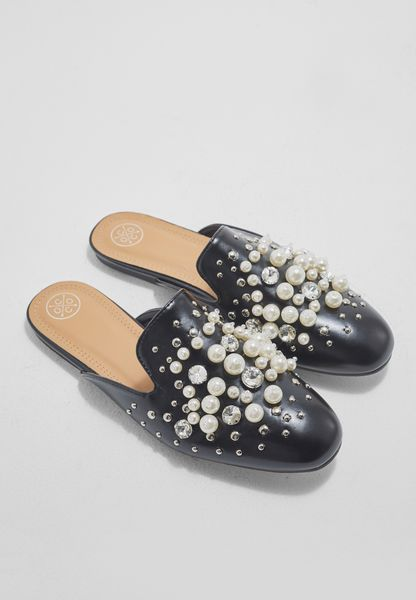 Alexis Pearl and Stone Studded Slip On