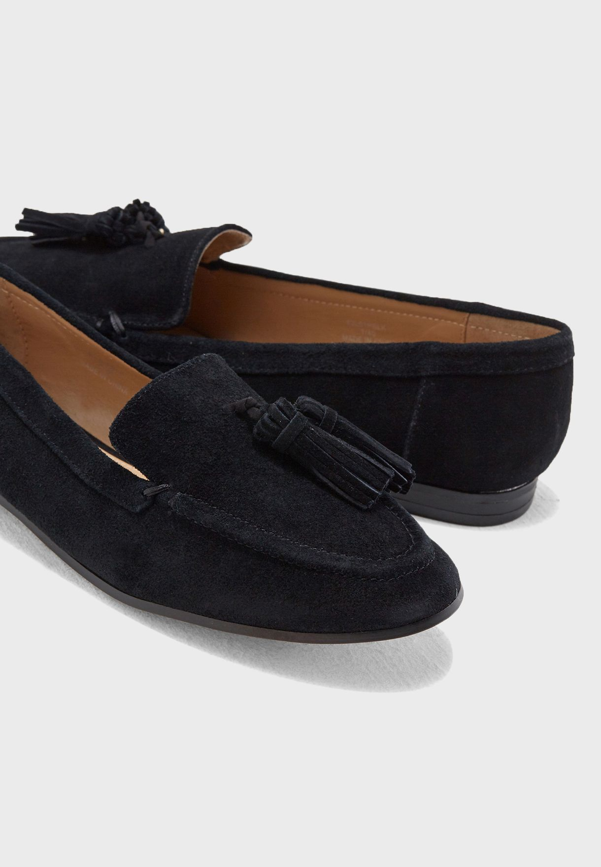 fb997f77ade Shop Topshop black Lexi Suede Loafers 42L01PBLK for Women in UAE ...