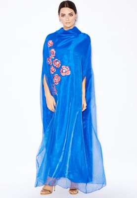 Haya's Closet Embellished Organza Kaftan