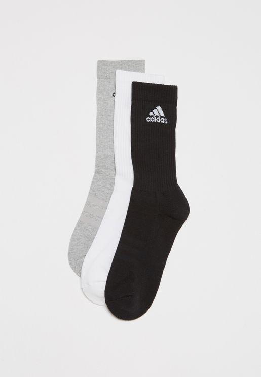 3 Stripes Performance Crew Socks