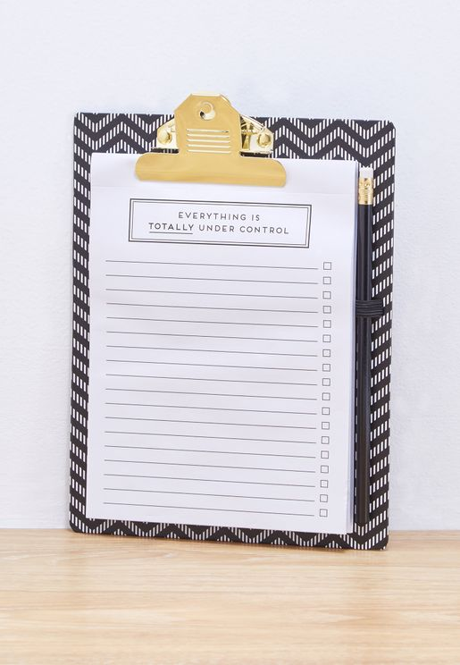 Clip Board, Notepad & Pencil Set