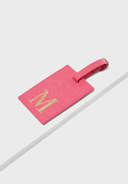 M Letter Luggage Tag
