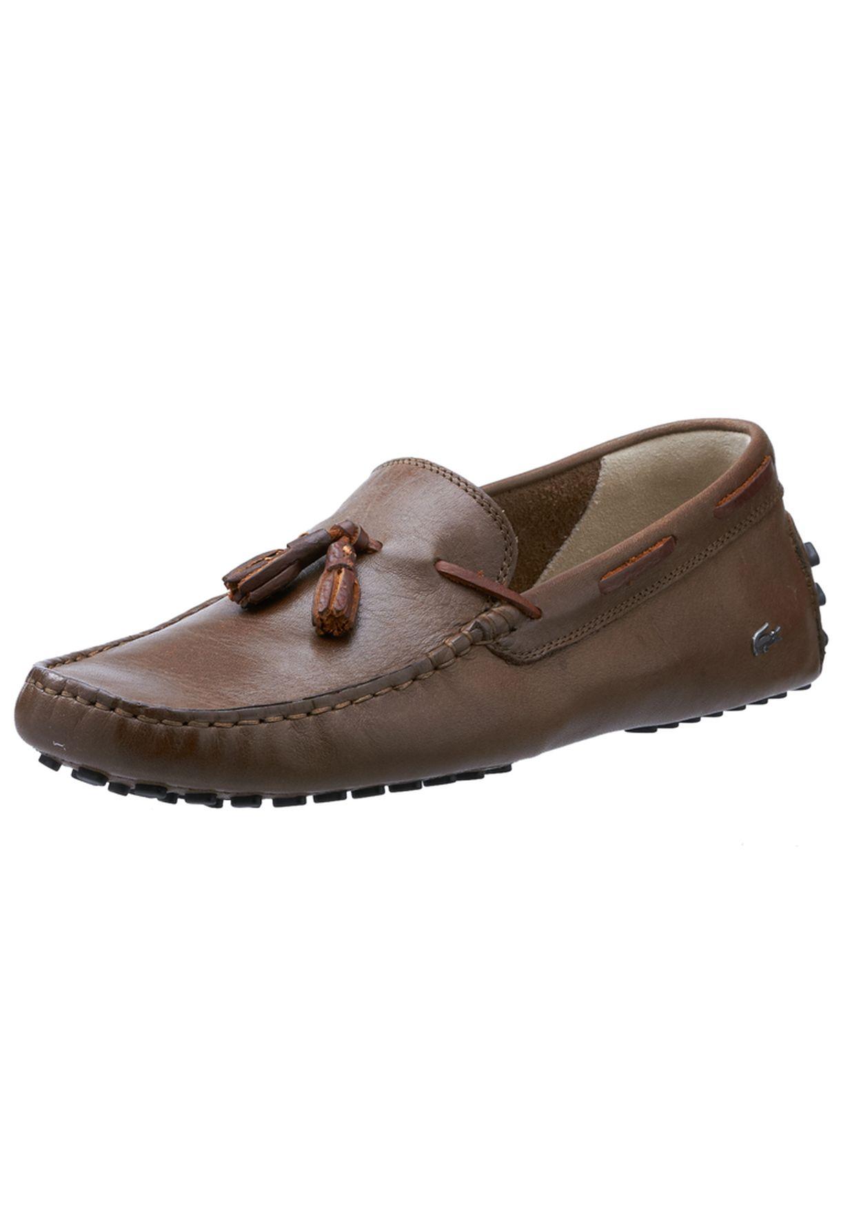 b83365fa8342d6 Shop Lacoste browns Concours Tassle Slipons 24CLM3202-176 for Men in ...