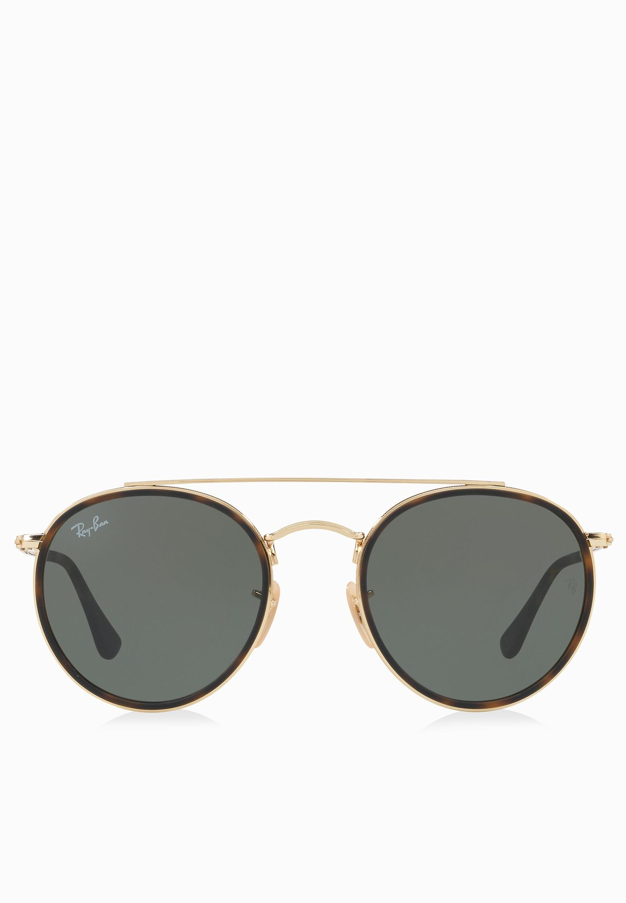 Shop Ray-Ban gold RB3647N Round Double Bridge 8053672737622 for Men ... e744dbd713
