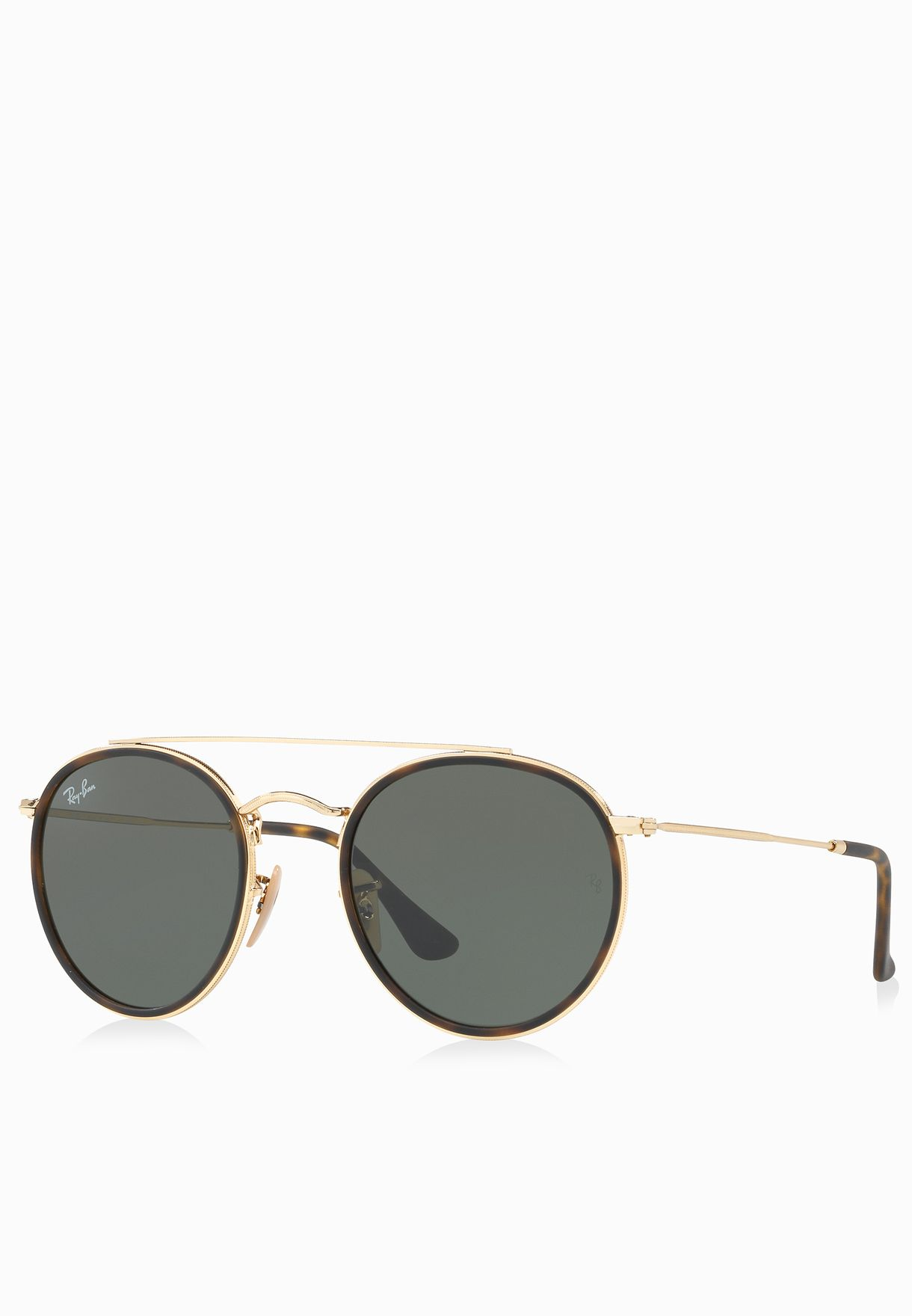 Shop Ray-Ban gold RB3647N Round Double Bridge 8053672737622 ... 0b9f09fc65