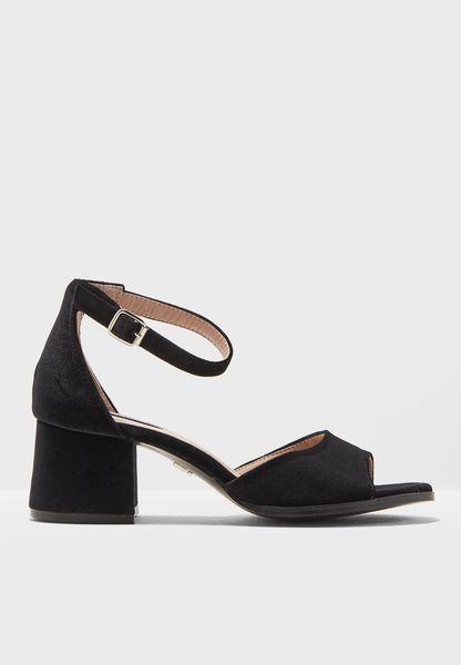 Block Low Heel Sandals