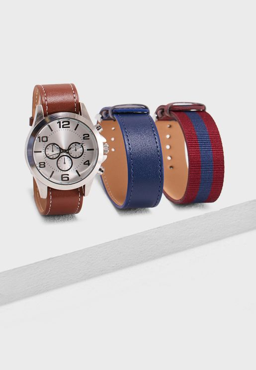 Pacifictrout Interchangeable Strap Watch