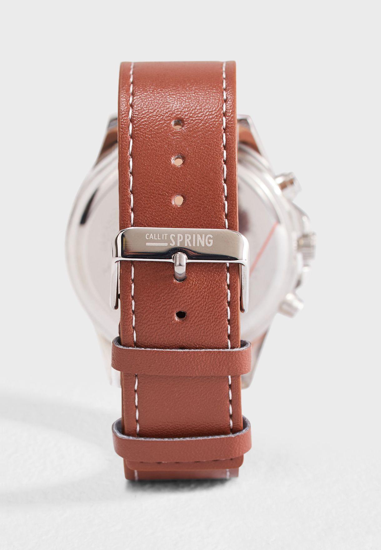 طقم ساعة + حزامين