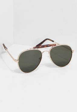 Tortishell Aviator Sunglasses