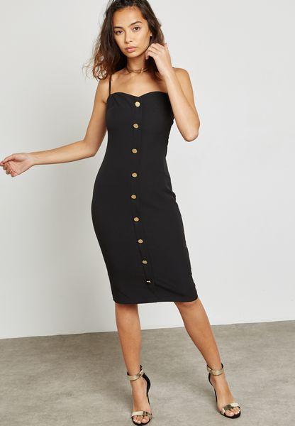 Button Front Cami Dress