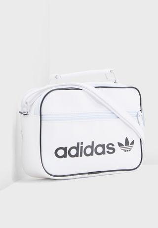 51460e5ee389 Shop adidas Originals white Vintage Mini Airline Messenger BQ1492 ...