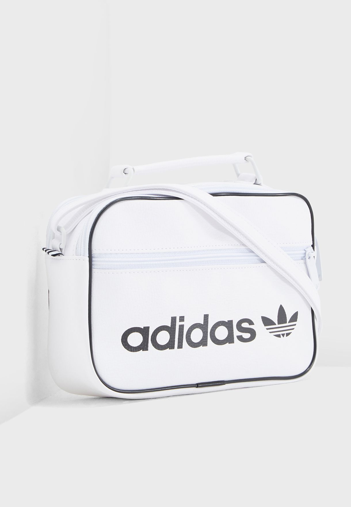 cfaeca4e9a98 Shop adidas Originals white Mini Airliner Vintage Messenger DH1005 ...