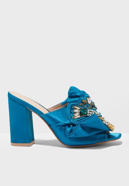 Selphie Embellished Block Heel Sandal