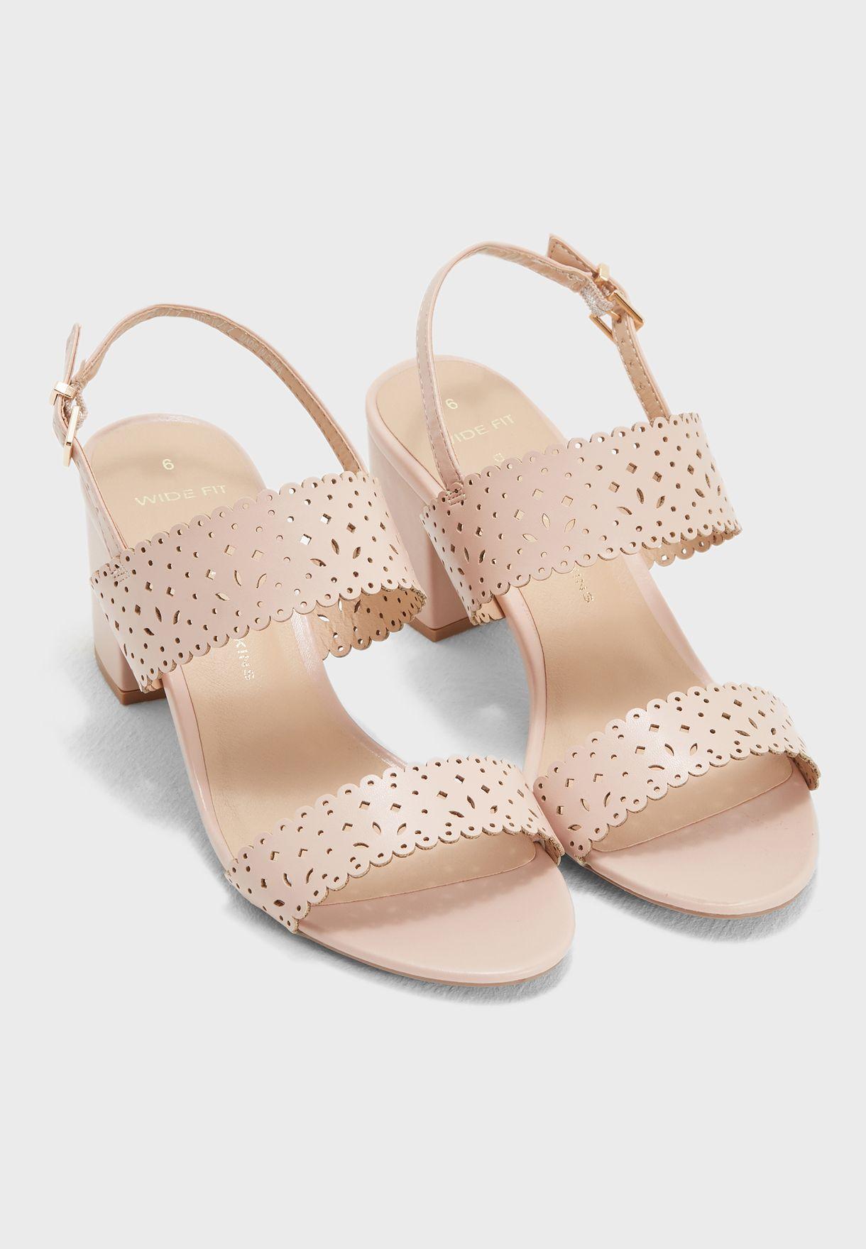 a82ea9d5b4f Shop Dorothy Perkins pink Wide Fit Sugar Heeled Sandals 35317311 for ...