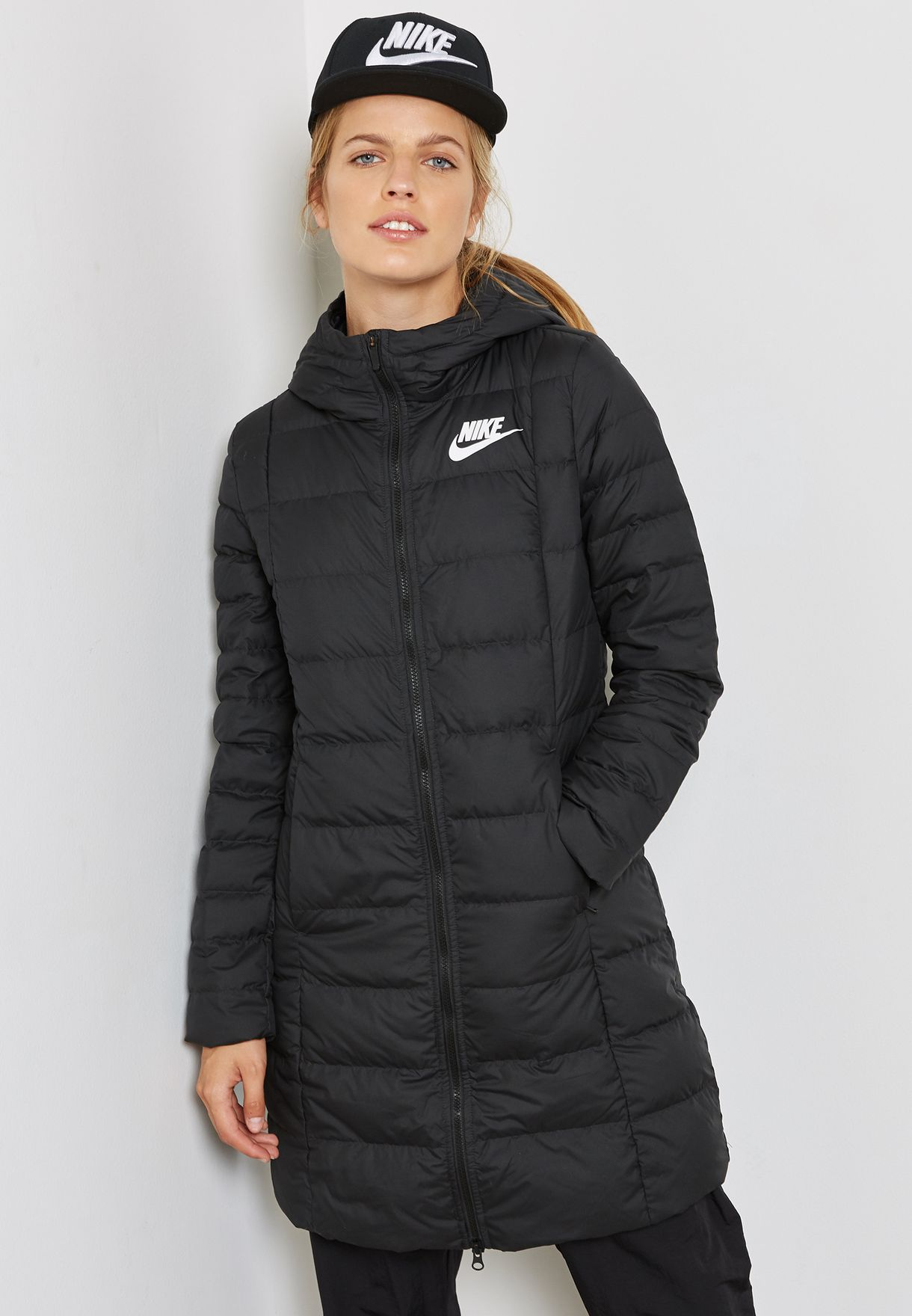 e81f534680 Shop Nike black Down Fill Parka 854860-010 for Women in Saudi - NI727AT79MQY