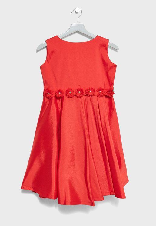 Little Flower Applique Dress