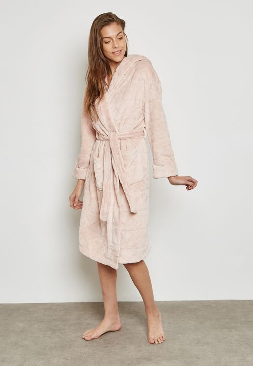 Belted Hooded Robe