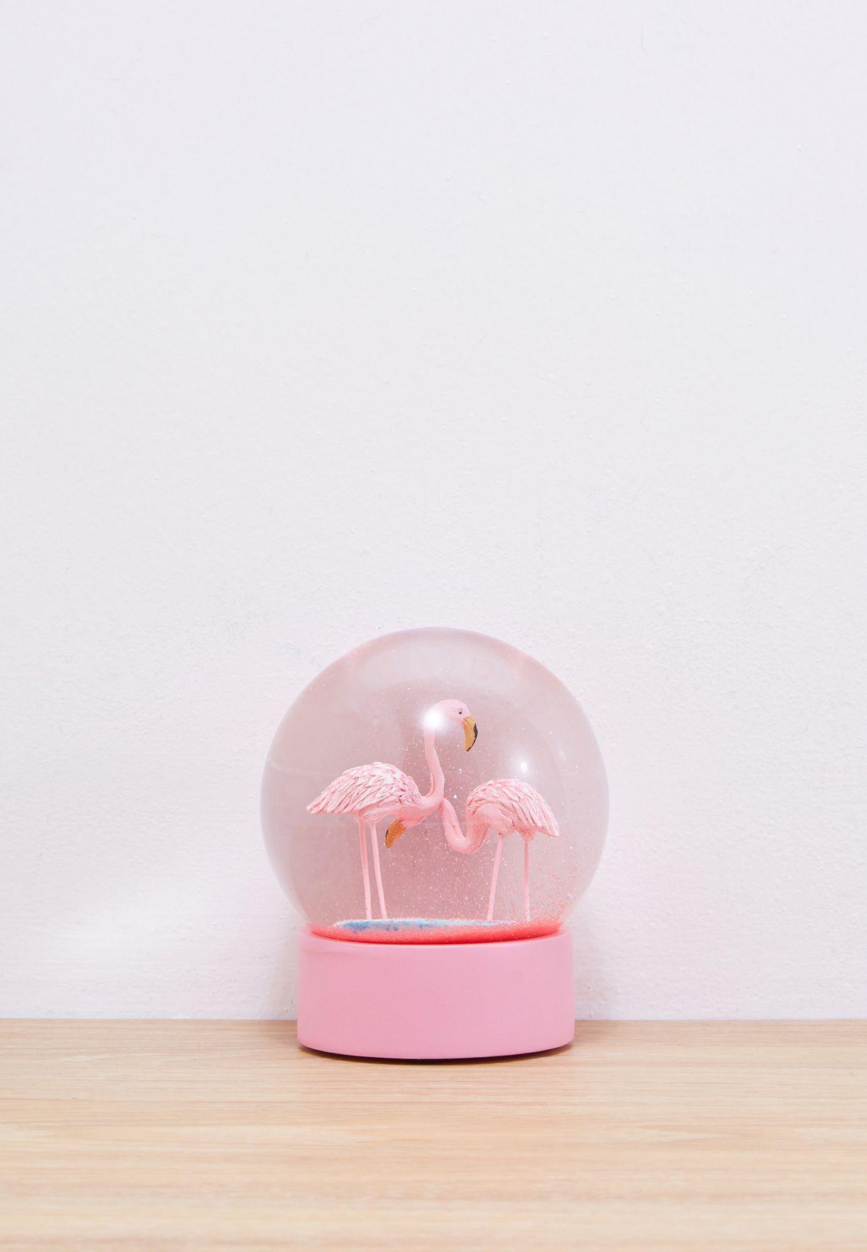 d33f2f16867d0 Shop Talking Tables multicolor Flamingo Snow Globe MIX-SNOWGLOBE for ...