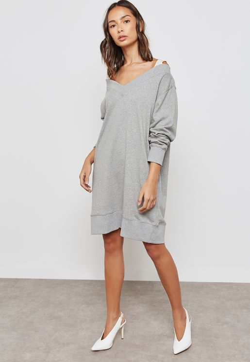 Full Sleeve Sweat Dress