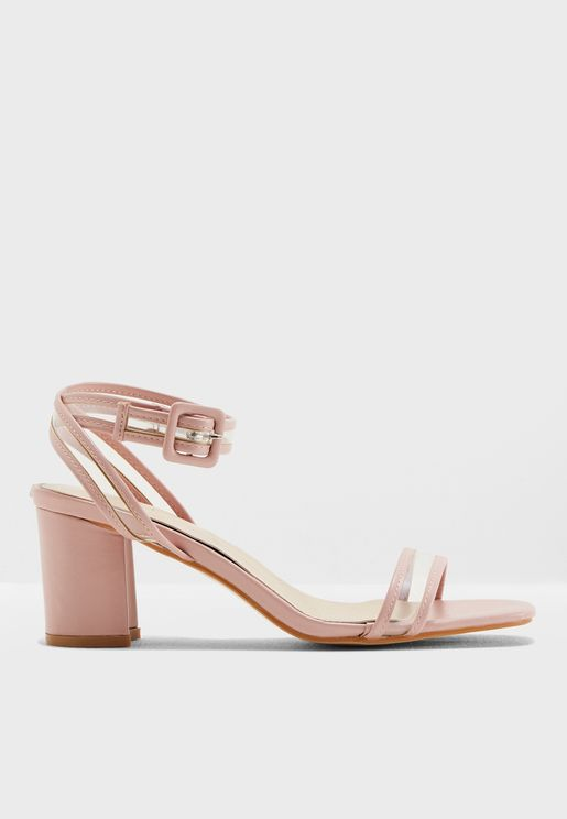 Solen Perspex Strap Sandals
