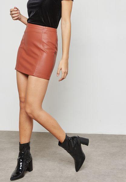PU Mini Skirt