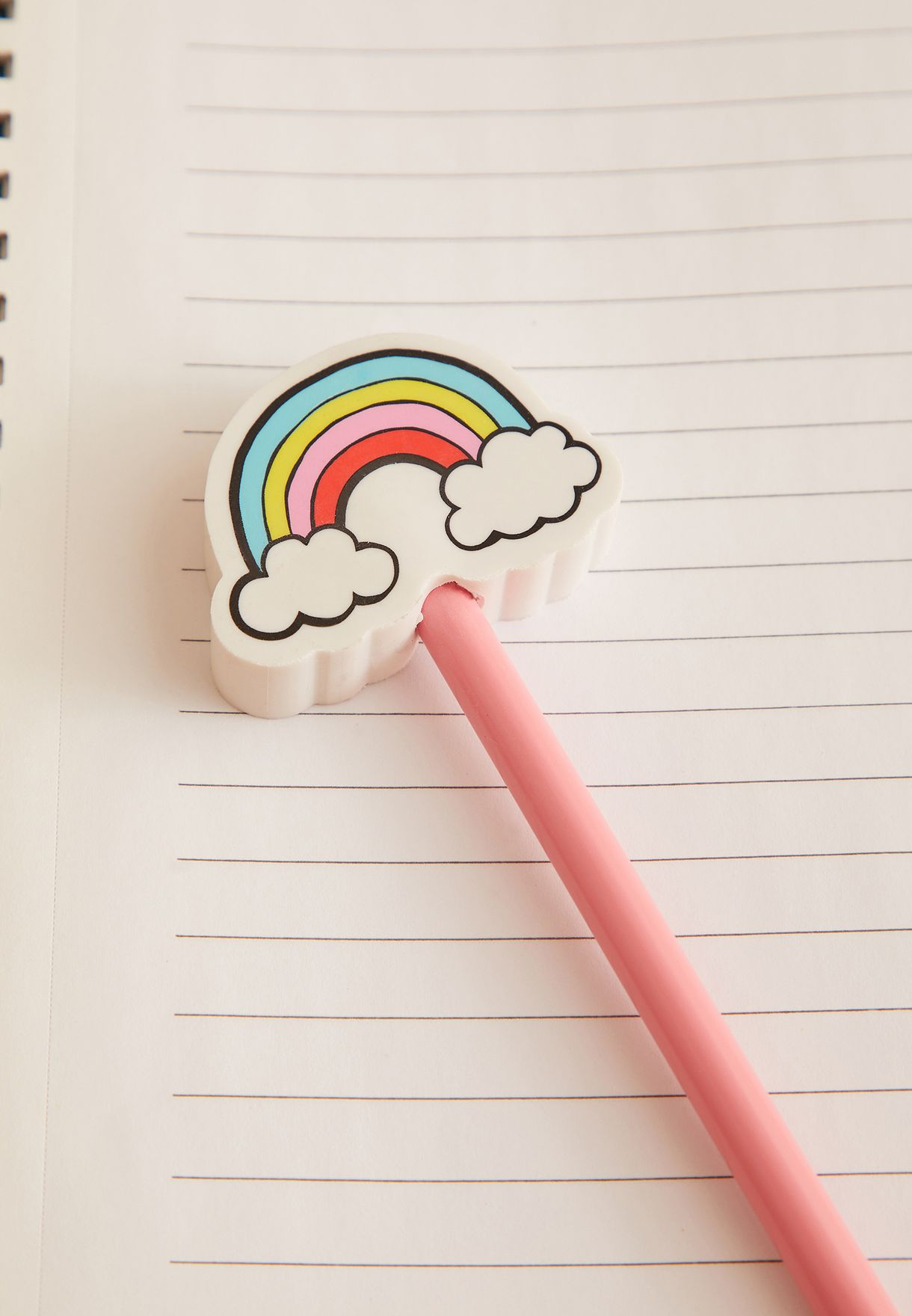 Pencil With Rainbow Eraser Topper