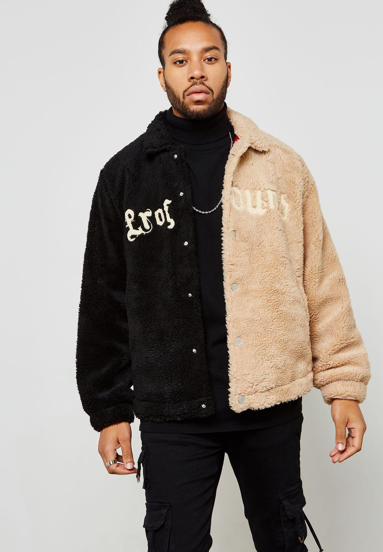 Colour Block Shearling Jacket