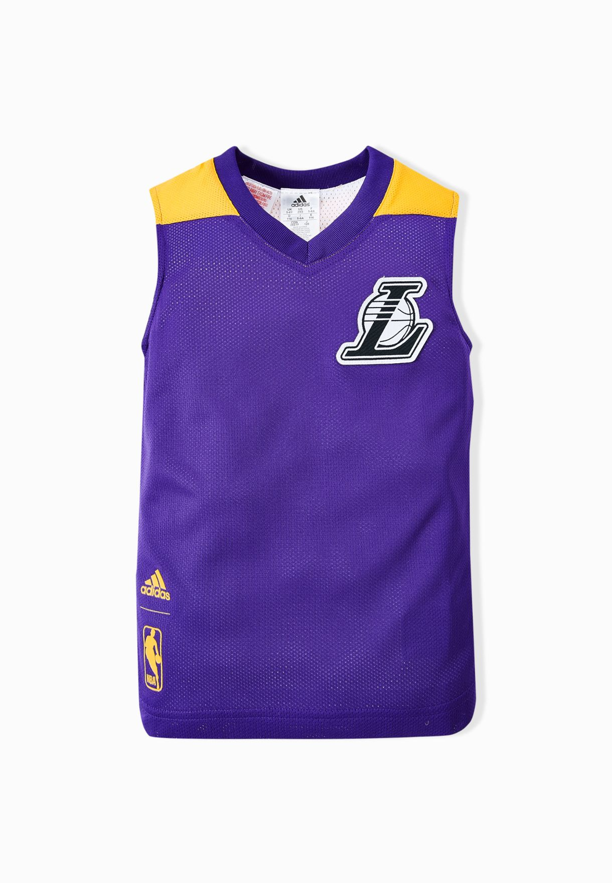 0dd75af1 Shop adidas multicolor Youth Reversible LA Lakers Vest AO2167 for ...