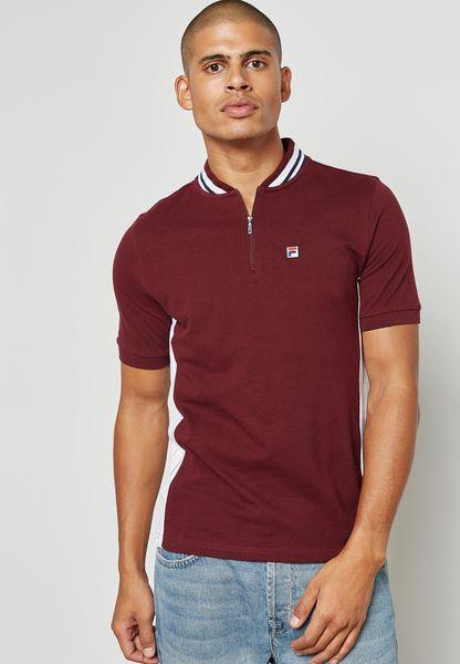 Moretti S/S Yarn Dye Zip Top
