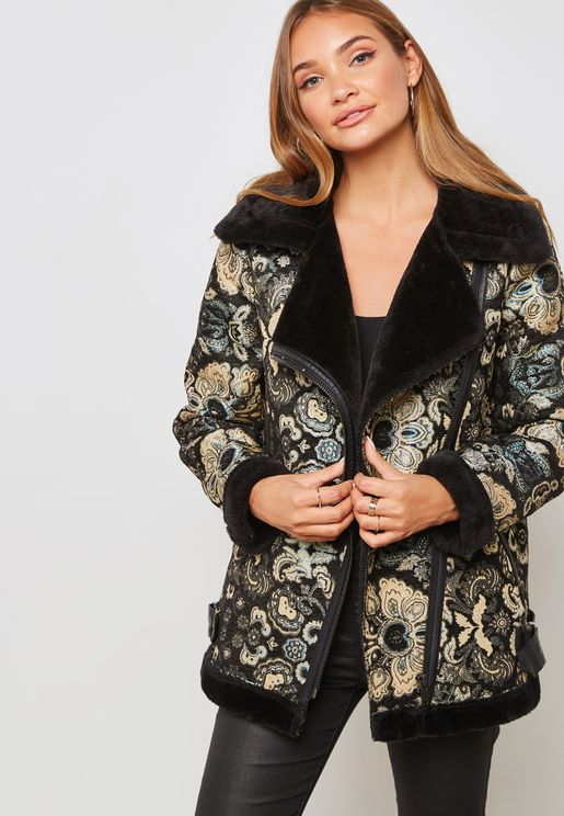 Jacquard Hooded Jacket