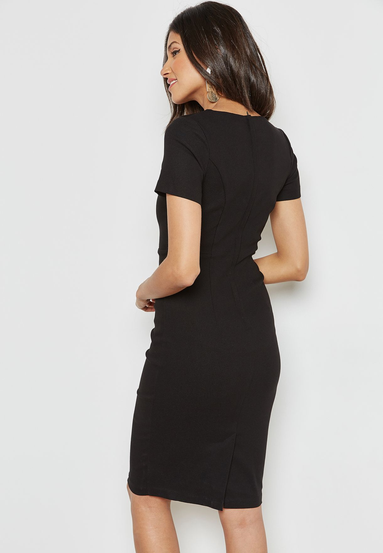 Bar Detail Pencil Dress