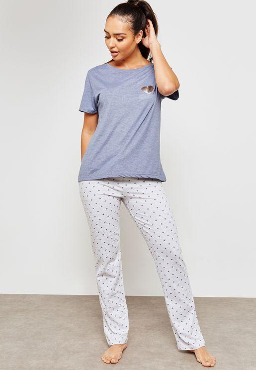 Patch Detail Pyjama Set