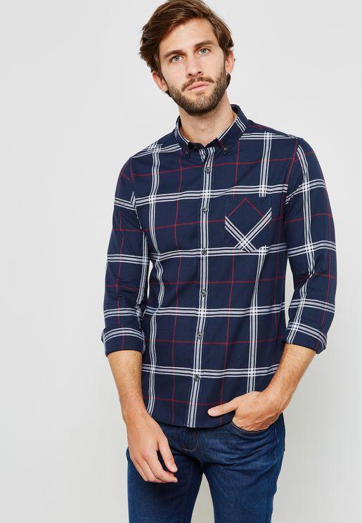 Oxford Check Print Shirt