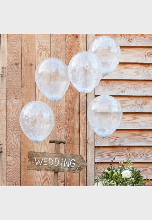 "5 x 12"" Confetti Balloons"