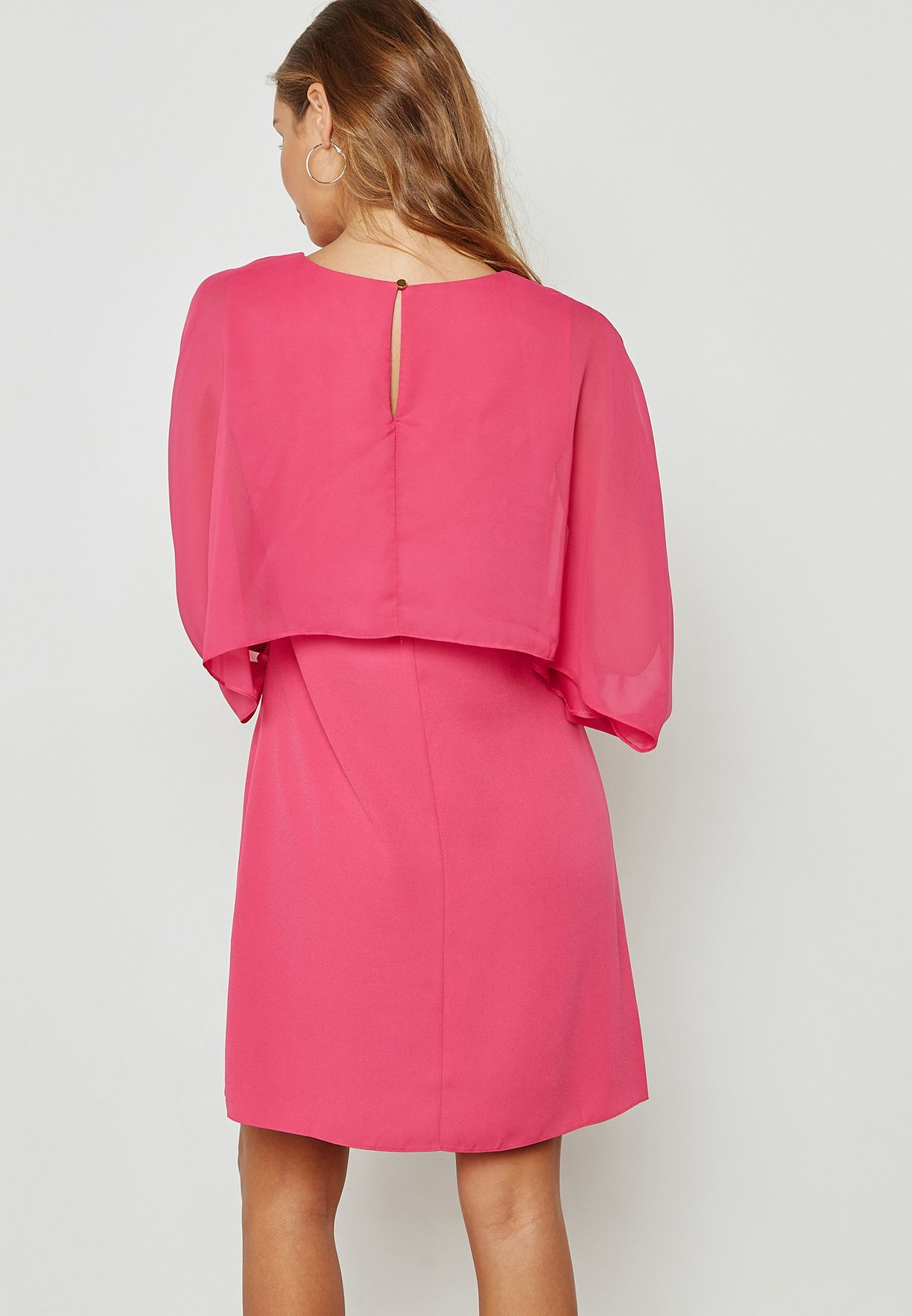 Overlay Shift Dress
