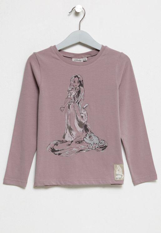 Little Rapunzel and Pascal T-Shirt