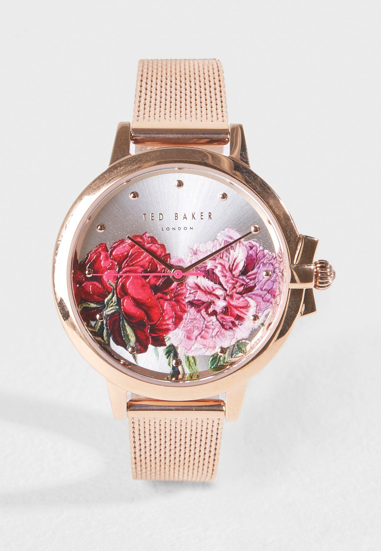 a91b540cc4ff2 Shop Ted baker gold Ruth Palace Gardens Watch TE50267009 for Women in Qatar  - TE456AC69BDE