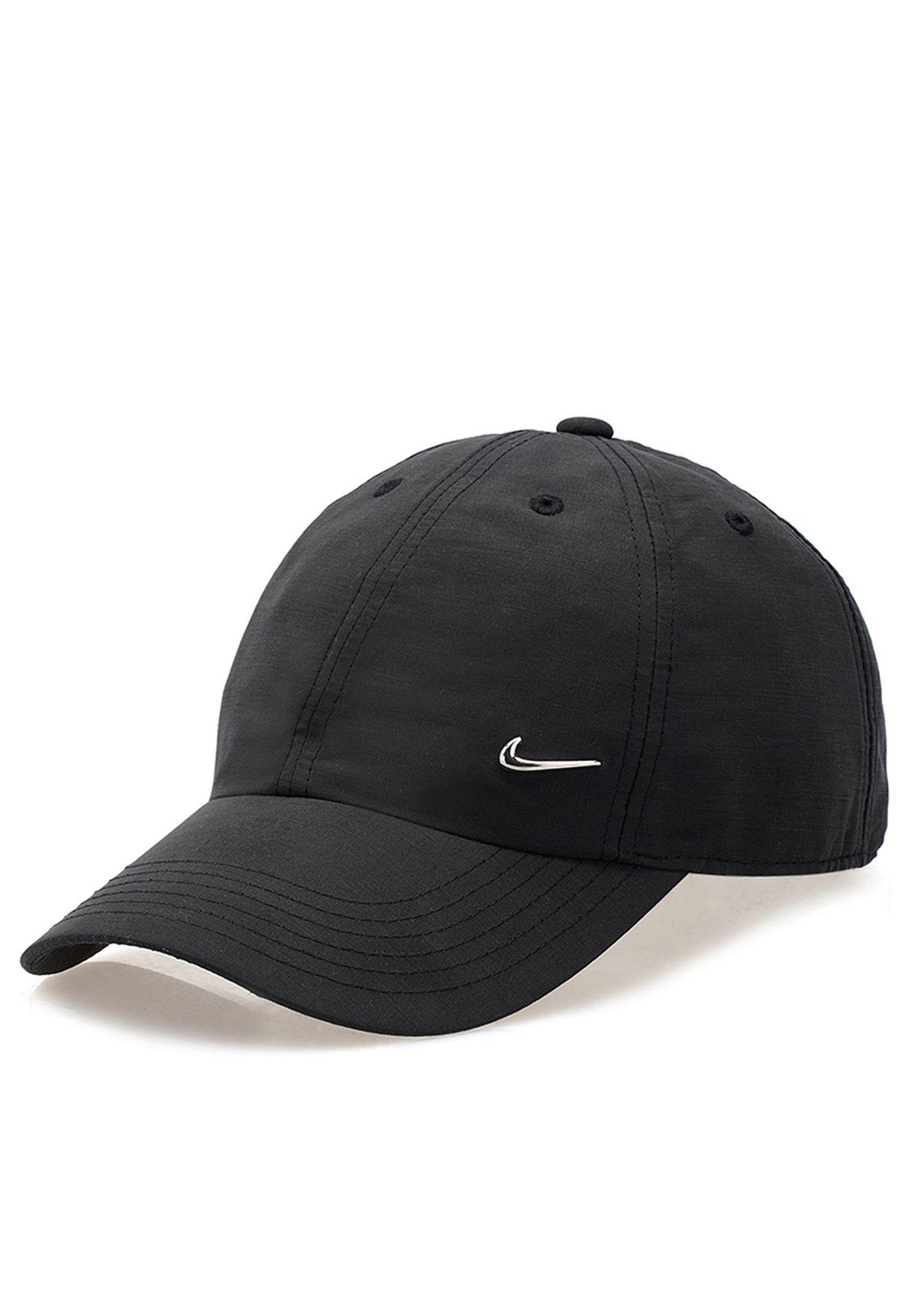 Shop Nike black Heritage Metal Swoosh Cap NKAP405043-010 for Men in Bahrain  - NI727AC69ILI 904b45e501f3