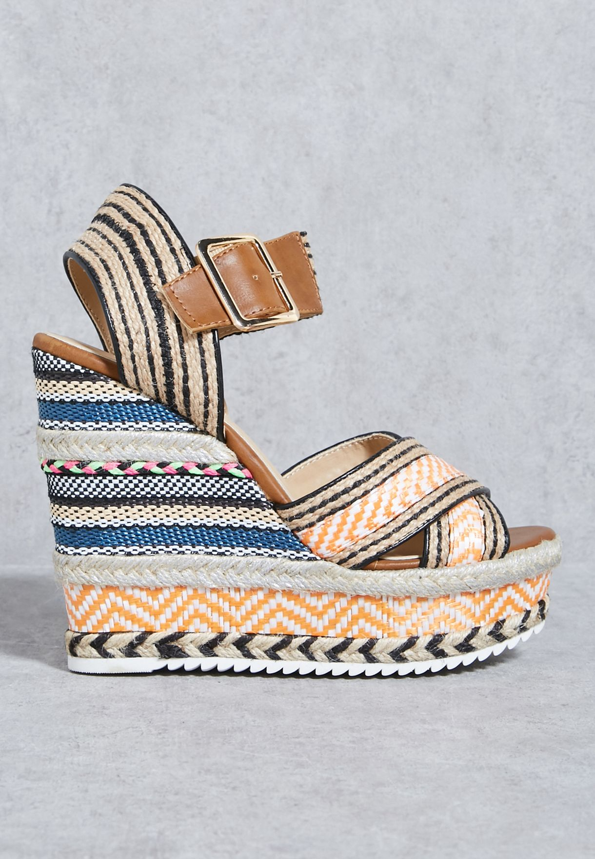 4920fae7a661 Shop Coco multicolor Wedge sandals ROSA 971 for Women in UAE ...