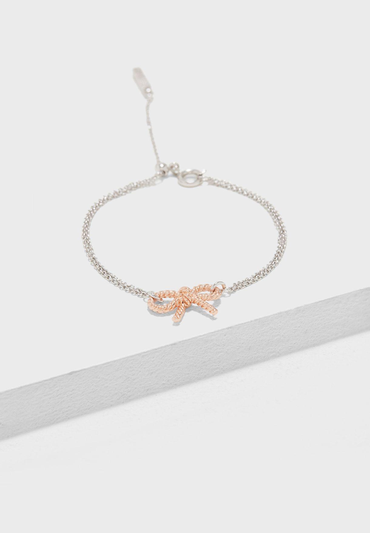 Vintage Bow Chain Bracelet